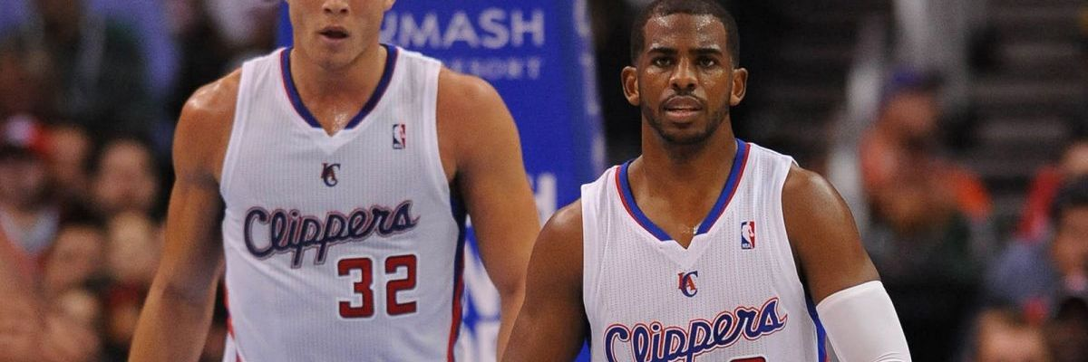 blake griffin and Chris Paul in a Clipper uniform