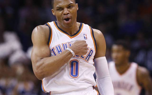 russell westbrook in a thunder jersey