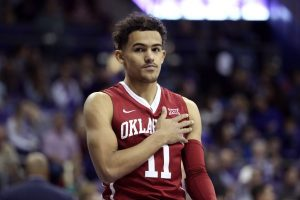 Trae Young wearing a Oklahoma Sooners uniform