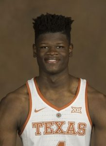 mo bamba wearing a Texas Longhorns uniform