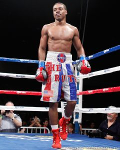 Errol Spence Jr in a boxing ring