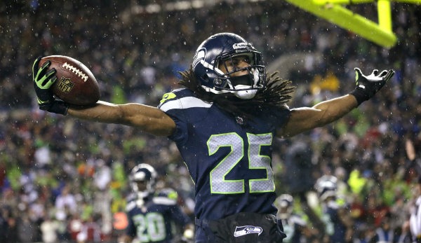 Richard Sherman in a Seattle seahawks uniform