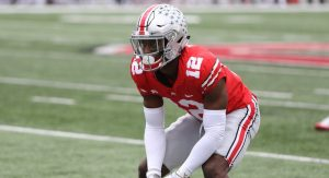 Denzel Ward in an Ohio State Buckeye uniform