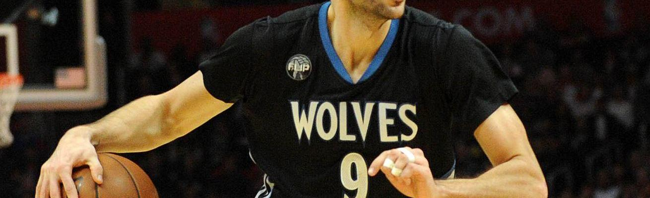 Ricky Rubio in a Timberwovles uniform
