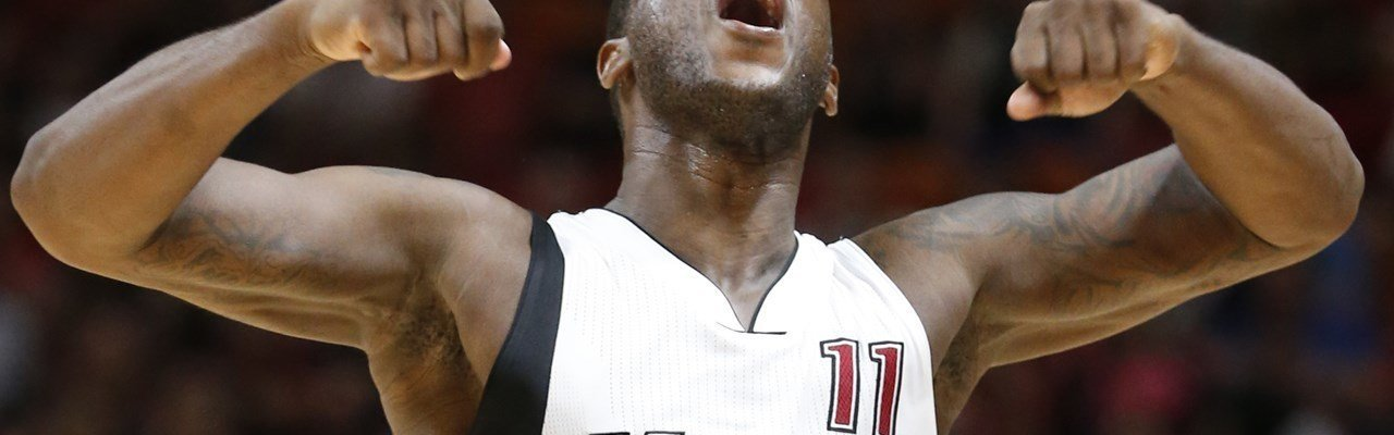 dion waiters in a miami heat jersey