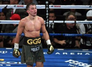 Gennady Golovkin in a boxing ring