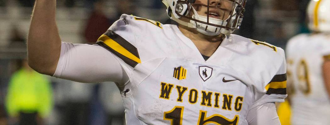 Josh Allen in a Wyoming cowboy uniform